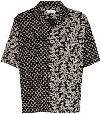 Rhude paisley print bowling shirt
