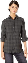 Hurley Long Sleeve Wilson Flannel Top (Anthracite) Women's Clothing