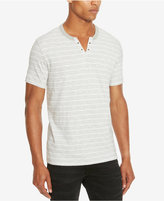 Kenneth Cole Reaction Men's Striped Eyelet Henley