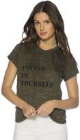 Peace Love World Invest in Yourself Elvis Crew Neck Burnout Tee