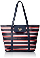 Tommy Hilfiger Hayden Stripe Tote Top Handle Bag