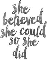 "Art.com She Believed She Could So She Did"" Wall Art Print"