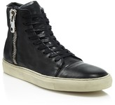 John Varvatos 315 Wide Zip Sneakers