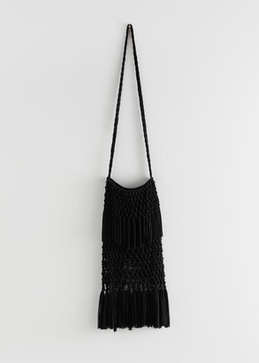 And other stories Cotton Macrame Fringe Bag