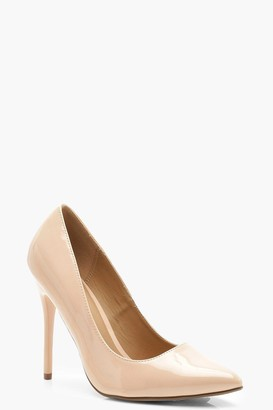 boohoo Wide Fit Stiletto Heel Court Shoes