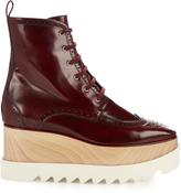 Stella McCartney Elyse lace-up platform brogue boots