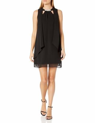 SL Fashions Women's Sleeveless Cutout PearlNeck Dress