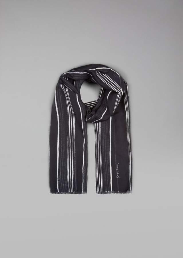 Giorgio Armani Cotton And Silk Scarf