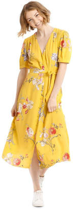 Warehouse Iris Floral Tea Dress