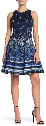 Maggy London Printed Fit & Flare Dress (Petite)
