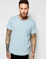 Dr Denim Russ T-shirt Light Wash Blue