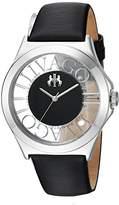 Jivago Women's 'Fun' Swiss Quartz Stainless Steel Casual Watch, Color:Black (Model: JV8430)