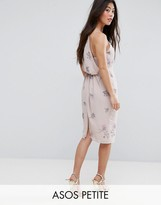 Asos WEDDING Embellished Drape Back Midi Dress