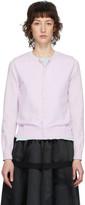 Comme des Garcons Purple and Blue Double Crewneck Sweater