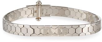 Milani Alberto Polygon Bangle Bracelet in 18K White Gold