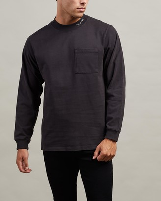 Saturdays NYC Dekalb EMB Mockneck LS Shirt