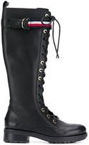 Tommy Hilfiger long biker boots