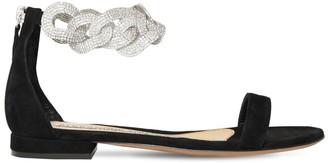 Alexandre Vauthier 15mm Suede Flat Sandals