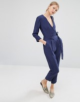 Asos Belted Jumpsuit with Wrap Front