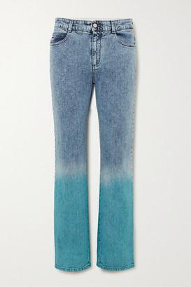 Stella McCartney Degrade Mid-rise Straight-leg Jeans - Blue