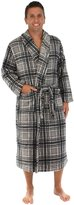 PajamaMania Men's Fleece Plaid Robe - (, Lrg)