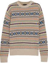 Joseph Layered Intarsia Wool Sweater - Beige