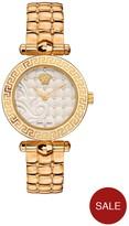 Versace Micro Vanitas White Dial Gold Tone Stainless Steel Ladies Watch