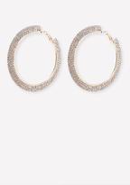 Bebe Crystal Mega Hoop Earrings