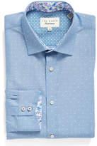 Ted Baker Endurance Trim Fit Dot Dress Shirt