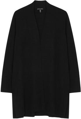 Eileen Fisher Black merino wool cardigan