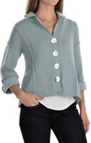 Pure Handknit Blue Moon Cardigan Sweater - 3/4 Sleeve (For Women)