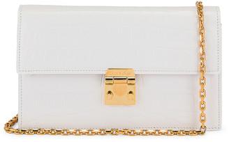 Mark Cross Jacqueline Croc Chain Bag in White | FWRD