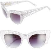 Women's Vow London Sophia 51Mm Cat Eye Sunglasses - White Tortoise