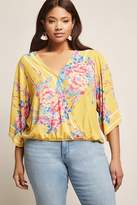 Forever 21 Plus Size Floral Print Surplice Top