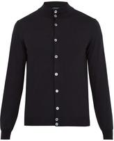 Zanone Button-through wool-blend cardigan