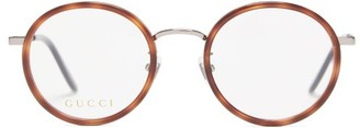 Gucci Round Acetate Glasses - Clear
