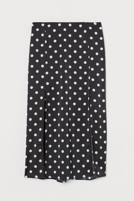 H&M Slit-hem skirt