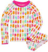 Asstd National Brand Solid Rash Guard Set - Toddler