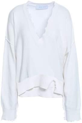 IRO Nofira Distressed Cotton And Cashmere-blend Sweater