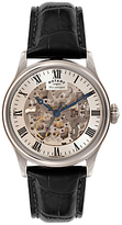 Rotary Gs02940/06 Skeleton Leather Strap Watch, Brown/cream