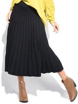 Everest Black Pleat Maxi Skirt