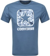 Converse Camo Box Logo T Shirt Blue