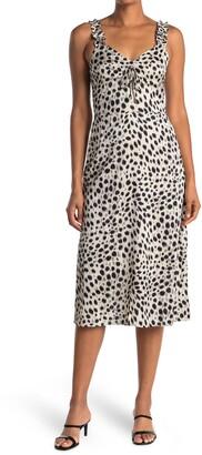 Lucy Paris Sierra Animal Print Sleeveless Midi Dress