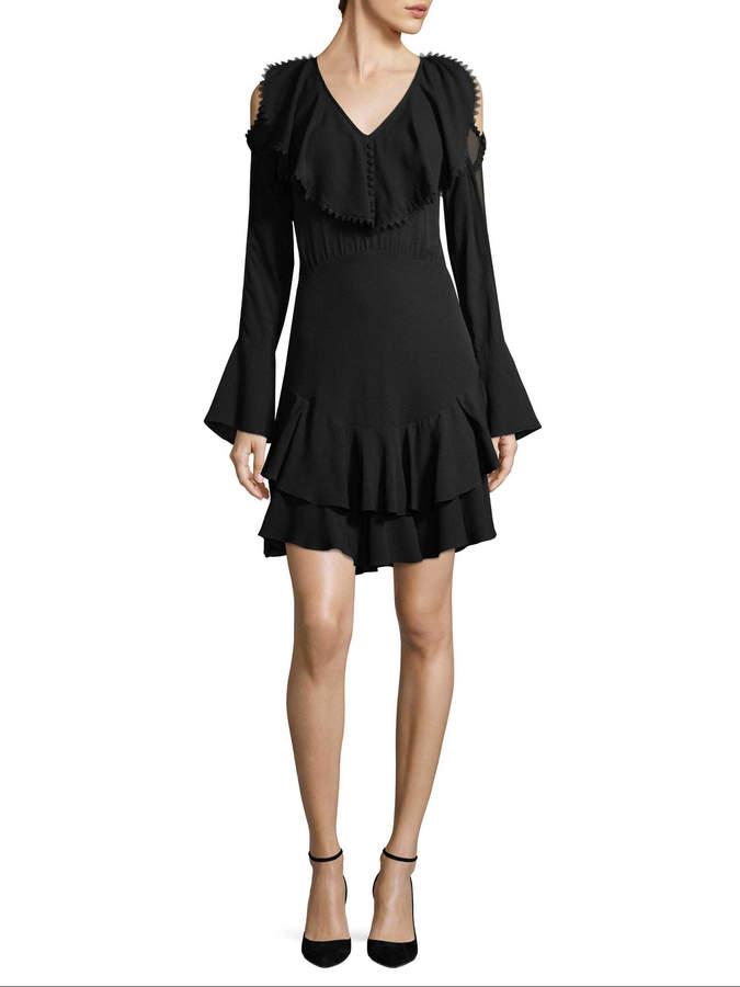 Yigal Azrouel Women's Silk Ruffle Dress