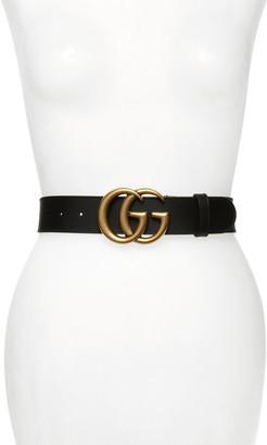 Gucci GG Logo Leather Belt