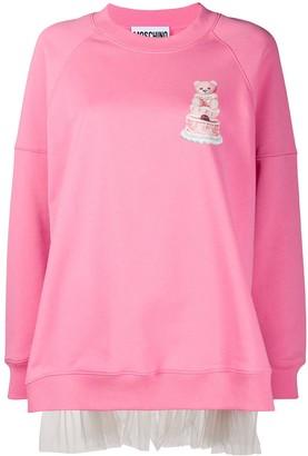 Moschino Tulle Back Sweatshirt