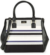 Kate Spade Maddie Striped Leather-Trimmed Satchel