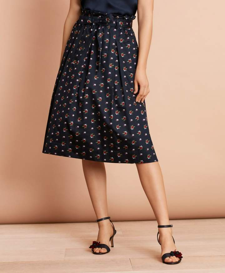 5a406f4615 Inverted Pleated Skirt In Navy - ShopStyle