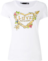 Love Moschino printed T-shirt - women - Cotton/Spandex/Elastane - 40
