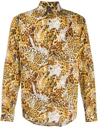 Just Cavalli Leopard-Print Long-Sleeve Shirt